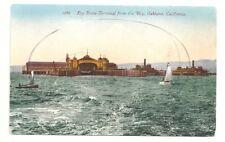 Postcard California Oakland Key Route Ferry Terminal Bay