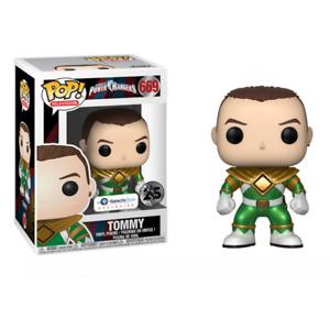 Galactic Toys Funko Pop TV: Metallic Unmasked Green Ranger Exclusive w Pop