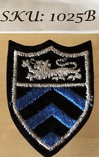 SHIELD LION- EMBROIDERED IRON-ON PATCH BADGE- Lot Of 20