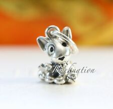 Authentic Pandora Silver Bull Terrier Puppy 798010En16 Charm