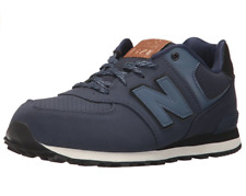 New Balance 574 Unisex Kids UK 11.5 EU 30 Navy Blue Lace Up Trainers Sneakers