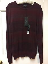 Men's  M Pull over  Striped Cotton/ Cashmere Sweater By Marc Anthony NWT