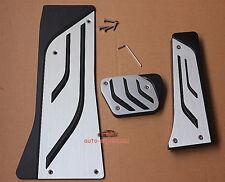 AT Aluminum Foot Pedal Rest Break Gas plate FOR BMW X5 X6 M F15 E70 E71 E72 LHD
