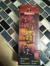 The Incredibles 2 Jada Nano Metals Figure Figurines Disney 5 Pack Pixar