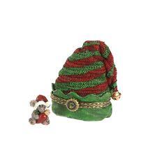 BOYDS CHRISTMAS TREASURE BOX ELVIE'S ELF HAT w/TWINKLE McNIBBLE New 2013/E1