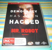 MR ROBOT SEASON 1 3-DVD SET CAT. DP66410 REGIONS 2 & 4 IN GOOD CONDITION
