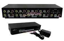 RCA Video Audio AV Switch 1 to 8 Ports Selector 8-Way TV DVD Splitter Box