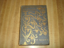 Awesome 1894 Antique book - Quentin Durward by Sir Walter Scott  Vol. 1
