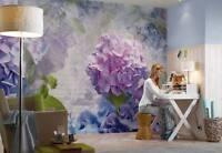 Papier Peint Mural Mur Fleurs Printemps Géant Chambre Déco 368x254cm Bleu Violet