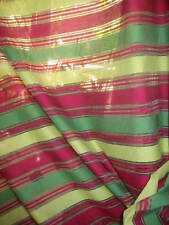 Coupon tissu voilages rideaux Prune et vert 150 de large x 2m90 de hauteur