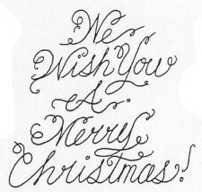 Unmounted Rubber Stamp, Christmas Stamps, Sayings, We Wish You A Merry Christmas