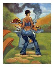 """BBQ"" by  Sterling Brown  - African American Art - Urban Art"