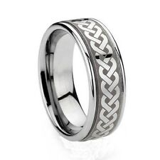 CELTIC RING BAND (tungsten eternity knot rings)