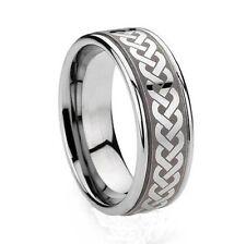 Celtic Rings (tungsten eternity knot rings)