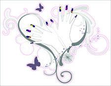 "Pre-Cut Reusable Nail Design with Heart Artwork Decor Wall Sticker Decal 15""X23"""