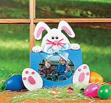 Bunny Picture Frame Magnet Craft Kit 4 Kits Party Favors