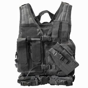 NcStar Vism Youth Tactical Crossdraw Vest Black New Airsoft Vest