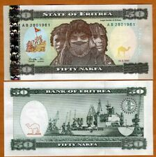 Eritrea, 50 Nakfa, 1997, First Independent Issue, P-5, UNC