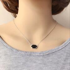 Mini Iridescent Druzy Stone Pendant Necklace Stunning Chic Statement Boutique