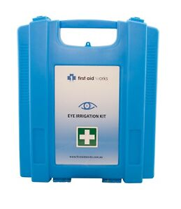 First Aid Works Eye Irrigation First Aid Kit Wall Mount FAWEIK