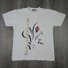 Mens Vintage Fila AFC Fiorentina Spell Out Tee T Shirt S Football Jersey 90s