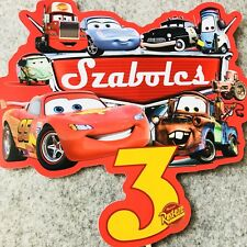 Disney Cars PERSONALISED Cake Topper. Lolly Bag Party Supplies Lightning McQueen