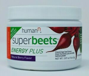 Humann SuperBeets - ENERGY PLUS Super Beets Natural Berry Flavor 80mg Caffeine