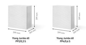 YTONG Jumbo Planblock   PP4/0,6 - 24 cm, Preis pro St.