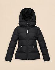NEW $525 Moncler Girls AUBETTE Black Down Puffer Jacket Parka, Sz 6A /116cm