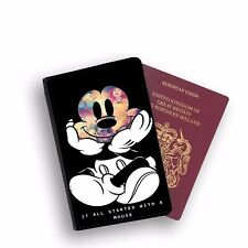 It All Started With Mickey Mouse Disney Passport Holder Travel Flip Cover Case