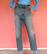 Womens Ralph Lauren Destroyed Boyfriend Jeans 31 M L 10 12 14 Denim Pants Tomboy