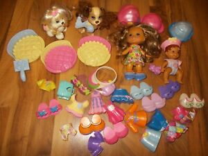 Snap N Style Gabriela Doll  LOT  Fisher Price Baby Pets Dogs Clothes