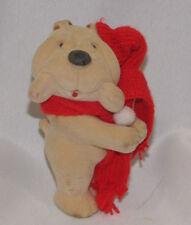 KRIS KRINKLES TINY DOG CLIP ON HUGGER FLOCKED VINYL PLASTIC WRINKLE SHAR PEI