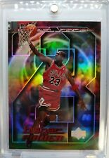 MICHAEL JORDAN 1998 UPPER DECK #MJ2 A HIGHER POWER, REFRACTOR LIKE INSERT CARD