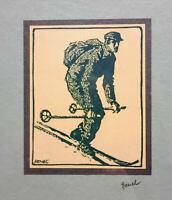 Edwin Hermann Henel - Garmisch - Skifahrer - 1937 - signiert - Oberstdorf