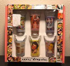 "PostMark Press, Set of 6 ""Retro Women"" 2.3oz Shot Glasses - In Box"