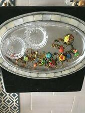 Tray of Treasures 2 Crystal Tea Light holders , Vintage Napkin Holders , W Tray