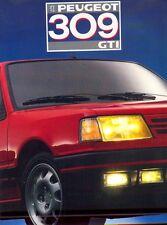 Peugeot 309 GTI folleto de ventas 1987 Color de mercado holandés