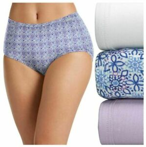 Women Jockey Supersoft Brief Underwear 3-Pack (Crochet Tile/Soft Lilac/White)