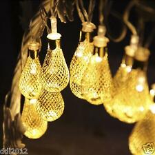20LED Morocco Hollow String Light Indoor&Outdoor Xmas Party Home Decor Lamp
