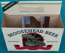 Rare Vintage Collectible Moosehead Beer Canadian Lager 6 Pack Carton