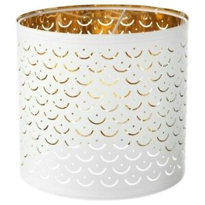 """IKEA NYMO Lamp SHADE ONLY White Brass Color 9 """" 103.772.00 NYMÖ New"""