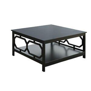 "Convenience Concepts Omega Square 36"" Coffee Table, Black - 203263BL"