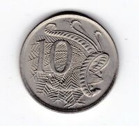 1969 Australia 10 Ten Cent Coin  C-202