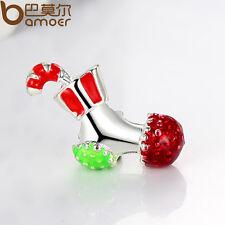 5pcs Xmas Shoes Fashion Murano Charm Fit European Silver Snake Bracelets Bangles