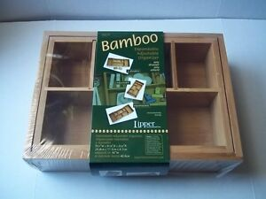 Lipper International - bamboo expandable organizer 9 3/4 x 6 7/8 x 2 5/8 in. New