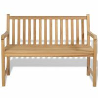 "New Teak Outdoor Bench 47.2"" Patio Chair Backyard Seat Garden Furniture"