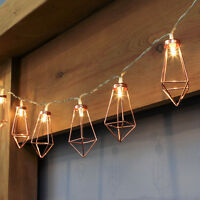 1.8M INDOOR BATTERY OPERATED CHRISTMAS COPPER TERRARIUM FAIRY STRING LED LIGHTS