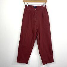 Princess Highway Womens Linen Blend Pants Red High Waist Size 8