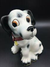 Vintage Dalmatian Dog Figurine Ceramic Porcelain Black White shelf 3